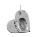 Large Heart Fingerprint Key Ring